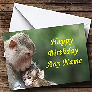 Amazon monkey baby personalized birthday greetings card greeting cards m4hsunfo