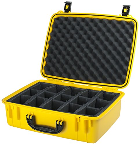 Seahorse 720 Case with Padded Dividers, Yellow