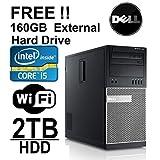 Dell Optiplex 980 Tower Computer, Intel Core i5 3.1GHz CPU, 8GB DDR3 Memory, *New* 2TB Hard Drive, 1GB Nvidia HDMI Video Card WiFi, Windows 7 Pro, Free 160GB External Hard Drive, REFURBISHED