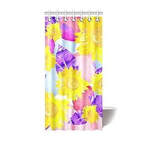 find arts custom shower curtain sunflower shower curtain 36 x 72 inch home kitchen. Black Bedroom Furniture Sets. Home Design Ideas