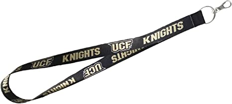 PSG INC NCAA UCF Central Florida Knights Premium Nylon Lanyard Keychain with Lobster Claw End