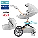 Baby Stroller 360 Rotation Function,Hot Mom Travel System Pram (Grey)