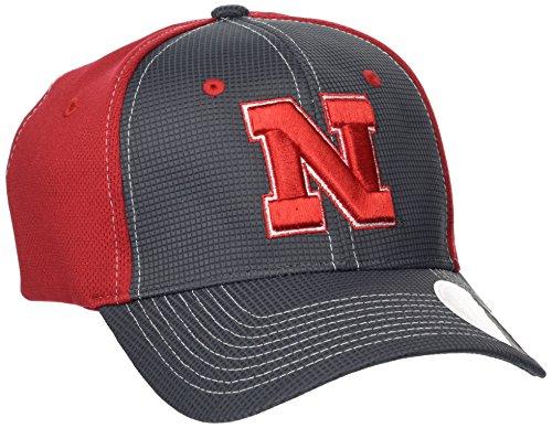 Zephyr NCAA Nebraska Cornhuskers Adult Men Grid Cap, X-Large, Gray/Team (Nebraska Team Color)