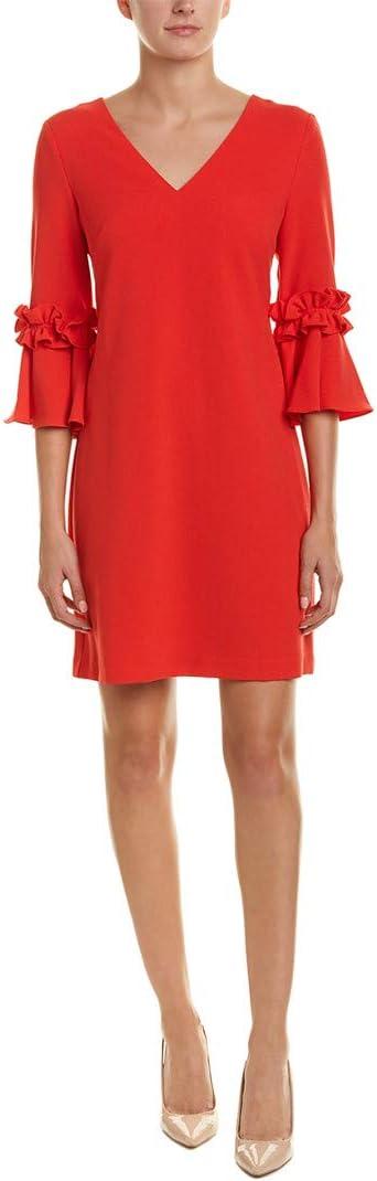 Jessica Howard Womens Petite Bell Sleeve V-Neck Shift Dress