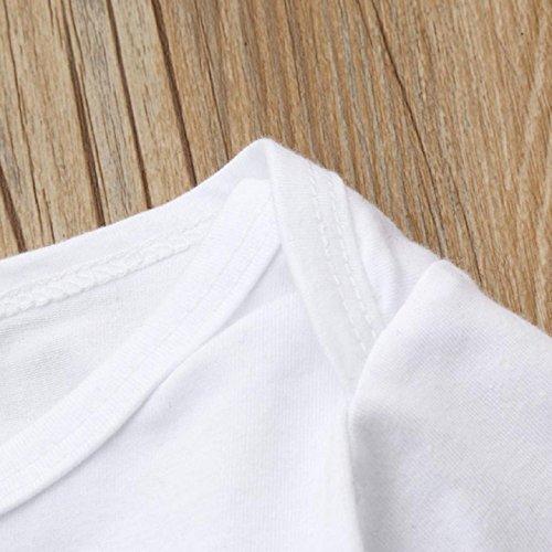 Juego de ropa de bebé, ppbuy bebé niña Pelele de carta Tops + Floral pantalones + gorro 3pcs Set: Amazon.es: Oficina y papelería