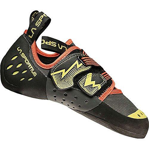 La Sportiva Oxygym Climbing Shoe - Men's Carbon/Sulphur 45 by La Sportiva Usa