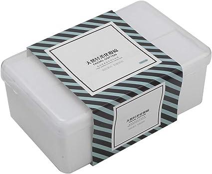 1000 Unids/Caja de Almohadillas de Algodón para Maquillaje, Limpieza Facial de Algodón para el Desmaquillador, Cuidado de la Piel y Otras Cosas Limpiar: Amazon.es: Belleza