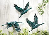Bird In Flight Hand Painted Metal Wall Indoor And Outdoor Decor by CT Discount Store