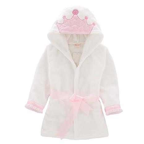 a059dd5485944 Enfants peignoir robe de chambre, bambin serviette à capuchon bébé chemise  de nuit en flanelle