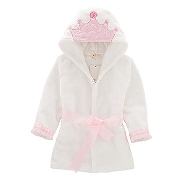 66469af59 Toddler Kids Bathrobe Hooded Pajamas