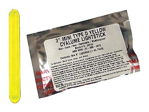 (Lightstick Yellow 4 hr. 3 in L PK25)
