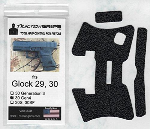 Tractiongrips Grip Overlay Decal for Glock 29, 30 GEN4 Pistols (Grip Extension Glock 30)