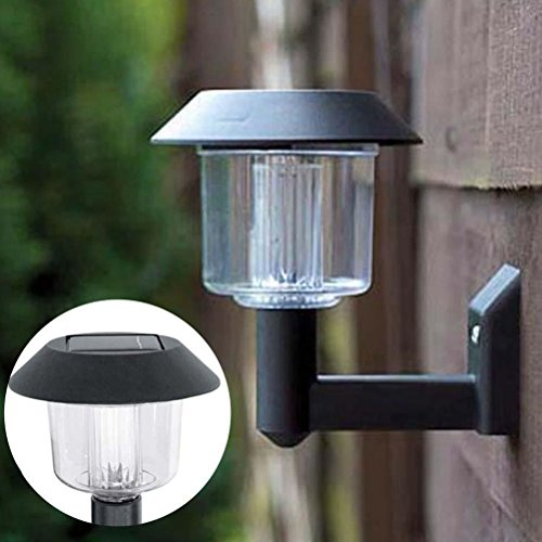 VIPASNAM-Solar Powered Wall Light Auto Sensor Fence LED Garden Yard Fence Lamp Outdoor TB (Digital Antenna Tb)