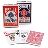 Bicycle Pinochle Jumbo Playing Cards (Pack of 12)