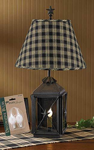 Park Designs Blackstone Lantern Lamp, Night Light, 14