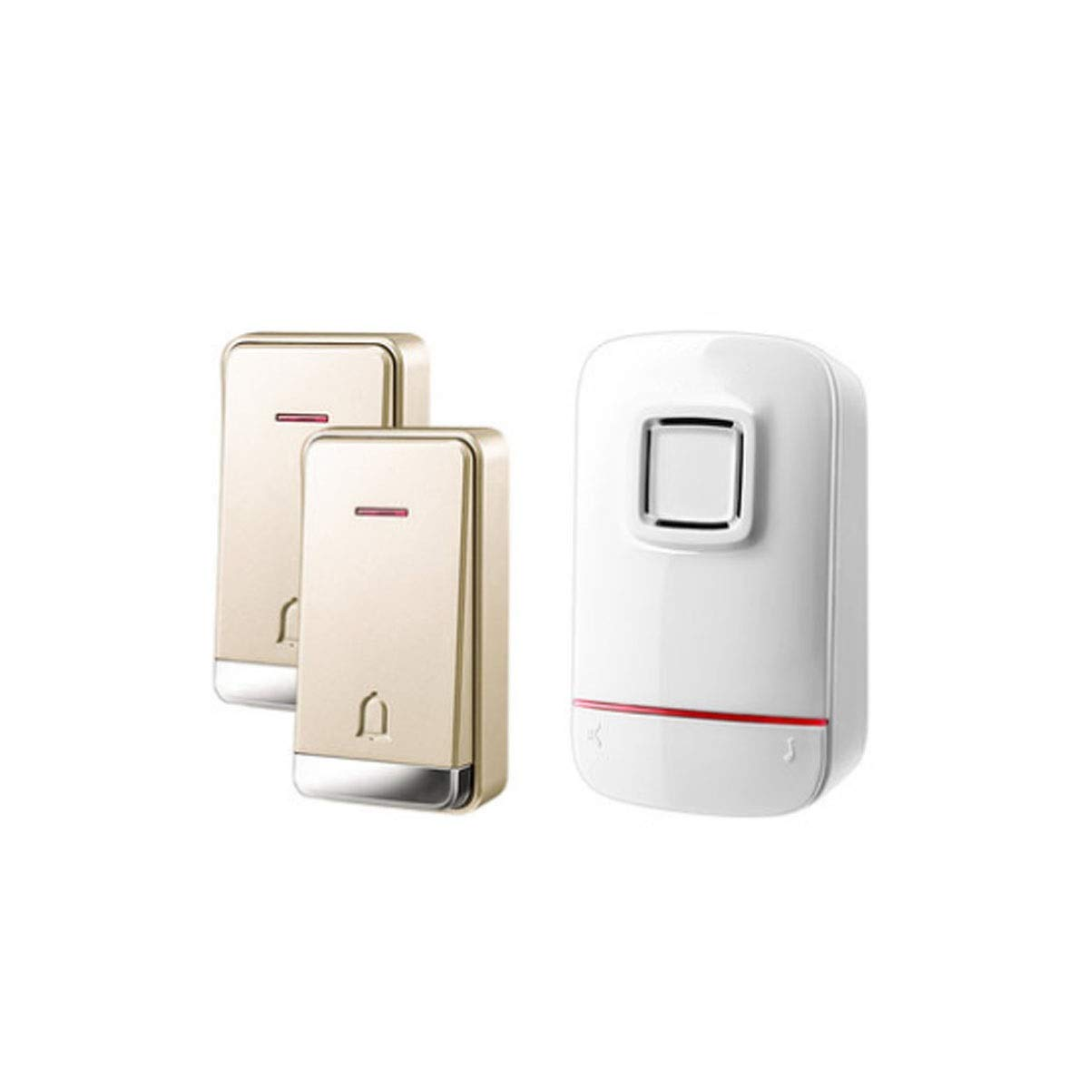 8haowenju Campanello, campanello senza fili a spinta wireless comodo, essenziale per unità di grandi dimensioni (bianco) (Style   Style3(two drag one))