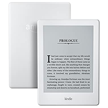 All-New Kindle E-reader - White, 6  Glare-Free Touchscreen Display, Wi-Fi - Includes Special Offers