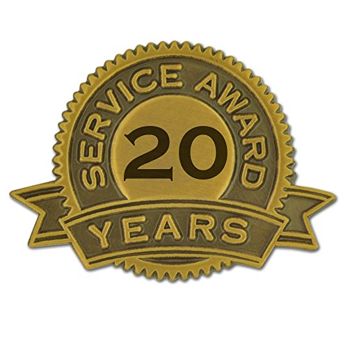PinMart's 20 Years of Service Award Lapel Pin