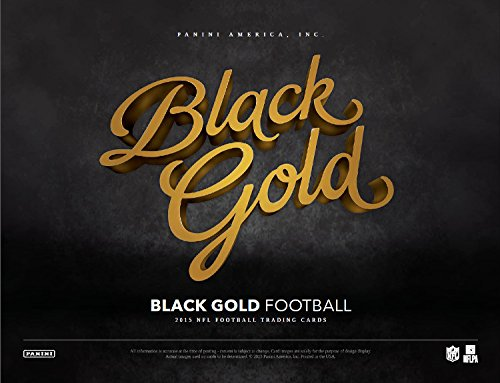 2015 Panini Black Gold Football Hobby Box (2 Packs of 5 cards) - 2 Autographs, 2 Memorabilia, 2 Manufactured Metal Logos, 2 Shadowbox inserts, 2 Shadowbox Base Cards) (Release date 01/20/16)