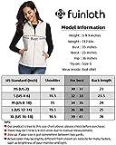 fuinloth Women's Padded Vest, Stand Collar