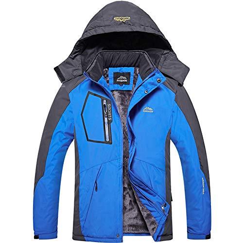 (Beautyfine Men's Winter Warm Velvet Sports Coat Casual Long Cotton Padded Thickened Outdoor)
