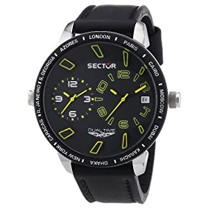 Sector Men's R3251119007 Marine 400 Analog Display Quartz Black Watch