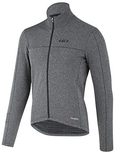 Louis Garneau Men's Power Wool Cycling Jersey, Asphalt, -