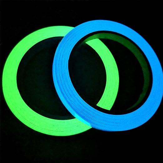 10M /× 1CM Cinta Luminoso de Seguridad Marca de Seguridad Glow in The Dark Tape Cinta Autoadhesiva Tape Fluorescente