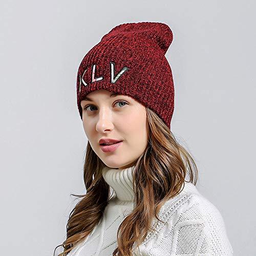 Sombrero Beanie Slouchy Invierno Esqui Bufanda Punto rojo Aire al Là Hecho Gorras Libre Punto Mujer Vestmon Hombre cálido Gorros Cráneo Vino qpAwzO