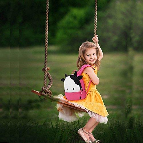 NOHOO-Mochilas-para-nios-de-jardn-de-infancia-bolsas-de-hombro-a-prueba-de-agua-de-dibujos-animados-3D-linda-del-nio-Bolsas-Zoolgico-Escuela-de-viaje-de-senderismo-mochilas-mochilas