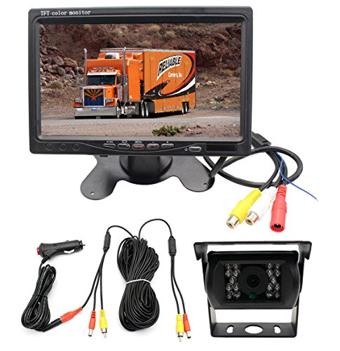 Integrated Installation Vehicle Wired Backup Camera and 7
