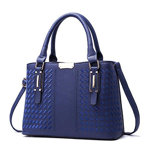 GWQGZ Nueva Moda Bolso Dulce Señora Bolso Bordado Gules Blue