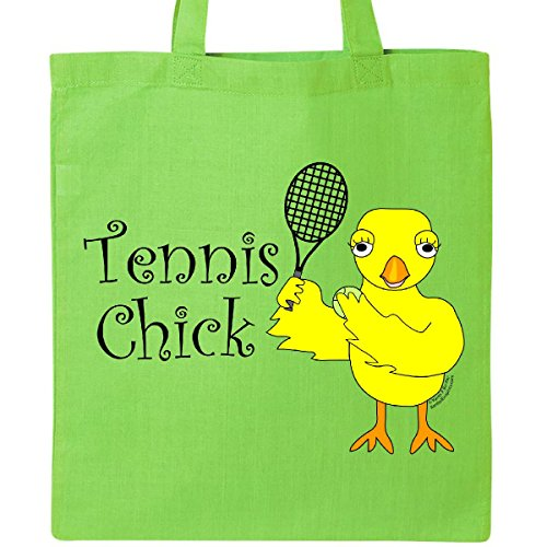 Inktastic Tennis Chick Tote Bag Lime Green Tennis Chick