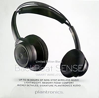 Plantronics Backbeat Sense SE - Special Edition Bluetooth Wireless Headphones - Limited Edition Black on Black (208240-01)