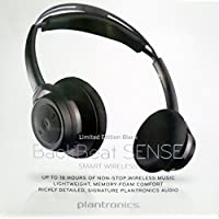 Plantronics Backbeat Sense SE - Special Edition Bluetooth Wireless Headphones - Limited Edition Black on Black