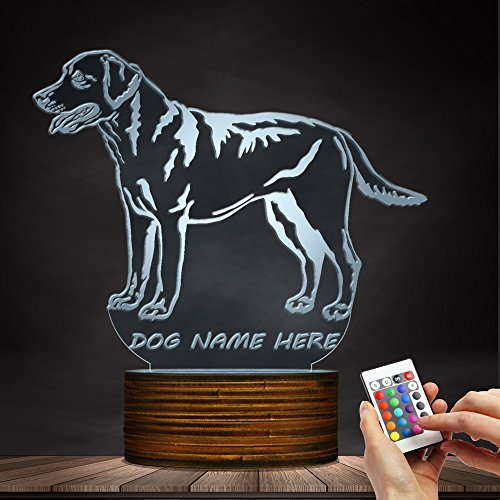 3D Labrador Retriever Dog Shape Design LED Night Light Custom Name Puppy Table Lamp Decorative Lighting Sleepy Light For Dog Lover Gift Labrador Retriever Light