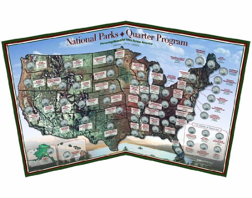 National Parks 56-Coin Quarter Map - Made in USA ()