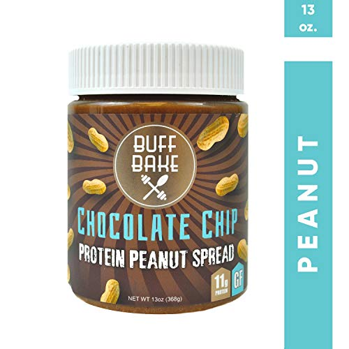 Protein Peanut Butter - Nut Butter Spread with 11 Grams of Whey Protein, Gluten Free, Non-GMO (Chocolate Chip, 13oz)