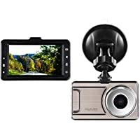 1080P Dash Cam CARSUN Super Night Vision 3 LCD Full-HD 1080P 4023x3024 170 Degree Wide Angle Dashboard Camera Recorder Car Dash Cam with G-Sensor, WDR, Loop Recording,with 16 GB Card - Silver