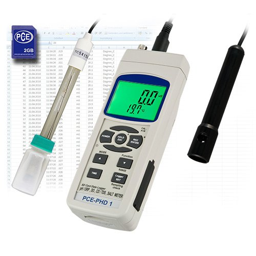 PCE Instruments pH-Meter PCE-PHD 1 - measures conductivity, oxygen and temperature ()