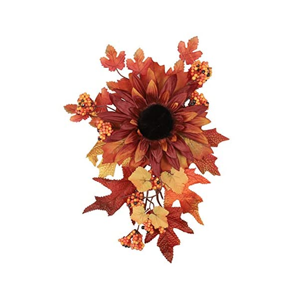 M-ELEGANT Artificial Flowers Fall Autumn Leaves Wall Hanging Flowers Halloween Christmas Greenery Outdoor Indoor Front Door