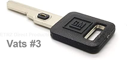 New GM Genuine OEM Single Sided Uncut Ignition Vats Logo Key Blank w// Chip #13
