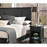 Home Styles 5531-5011 Bedford Queen Headboard and Nightstand, Black Ebony Finish