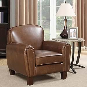 Amazon Com Gilbert Top Grain Leather Accent Chair Health