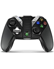 GameSir G4 Pro Bluetooth Wireless Gaming Controller for Android/ iOS/ PC/ Nintendo Switch with Phone Bracket, USB Mobile Phone Gamepad for Apple Arcade MFi Games, Customizable ABXY, Axis Gyroscope