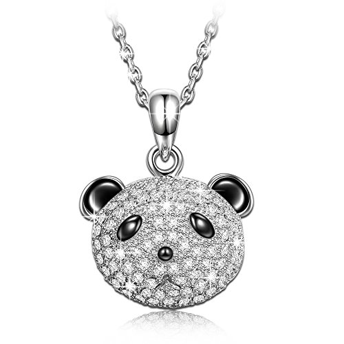"""NinaQueen""""Piteous Panda"""" 925 Sterling Silver Cute Pendant Necklace, Christmas gift for girls"""