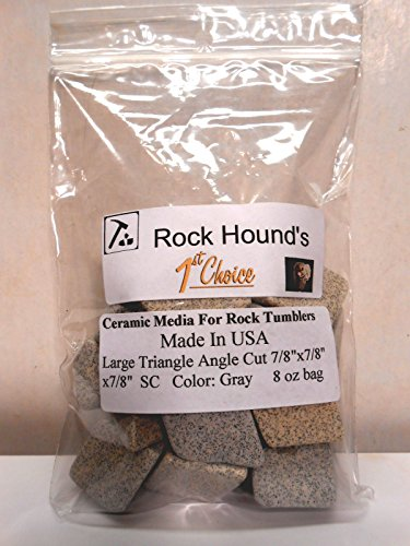 Rock Hound's 1st Choice Rock Tumbler SC Polishing Ceramic Media Big 1/2 Lb Bag by Rockhound's 1st Choice SC Ceramic Media