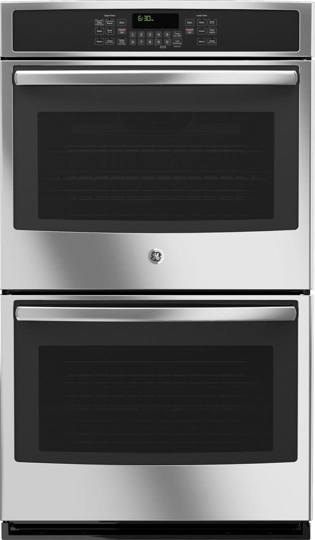 JT5500SFSS 30 Built-In Double Wall Oven with True European Convection Self-clean with Steam Clean Option 5 Total Oven Racks and 10 cu. ft. Total Oven Capacity in Stainless Steel