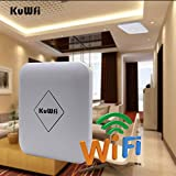 KuWFi 1200Mbps11AC High Powe Wireless Access Point 802.11ac Dual Band Wireless Ceiling Mounted AP Router Signal Booster Extender 802.3af PoE Standard Support 80-100Users
