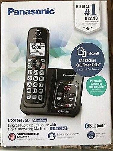 Panasonic KX-TG3760 Link2Cell Cordless Telephone with Digital Answer Machine ()
